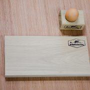 SCHNEID-Brett plus Eierbecher aus Eichenholz