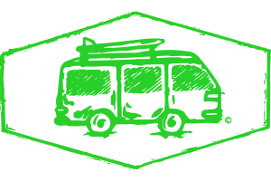 Dünenkerl Camping Bulli T4 grün
